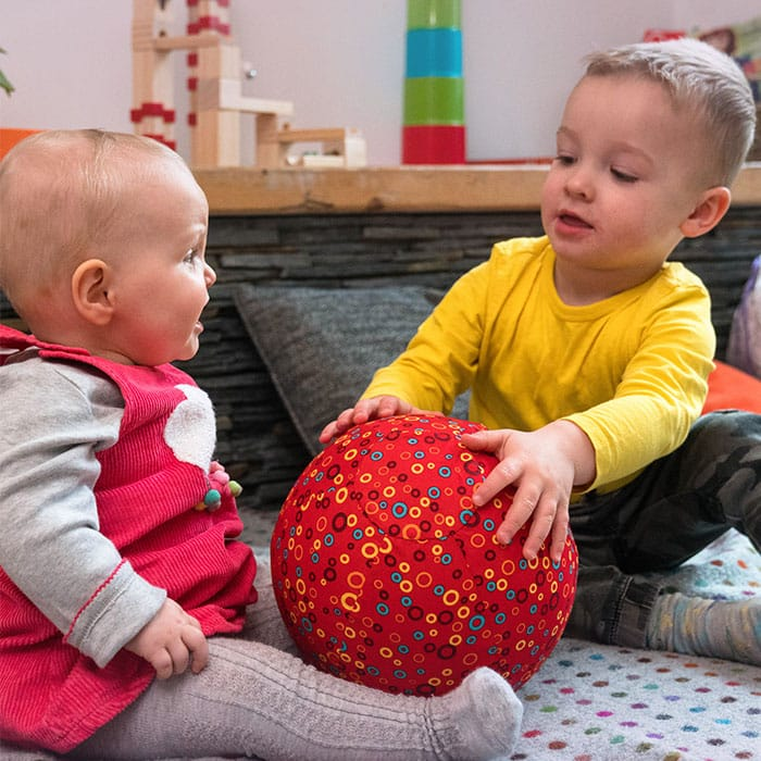 Children playing with BubaBloon Balloon Toy